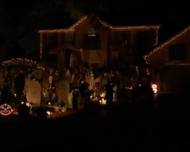 Homeowner Creates Halloween Lightshow Synched to Queen.