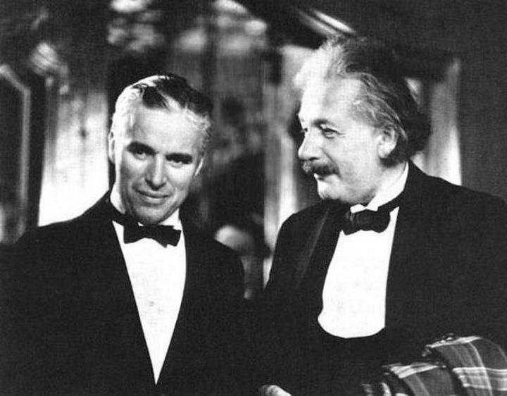 Charlie Chaplin and Albert Einstein in 1930.
