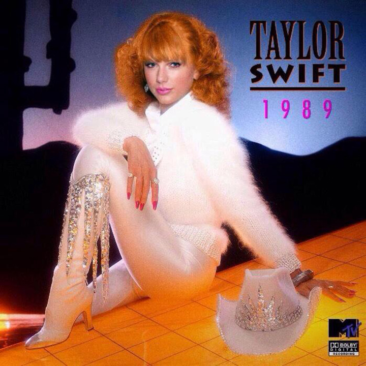 A neat retro concept cover of '1989' if it would have been released in the year 1989.