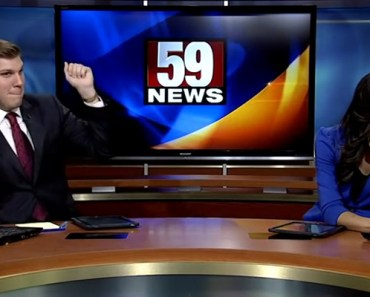 News Anchor Dances It up but His Co-Anchor Shakes Him Off