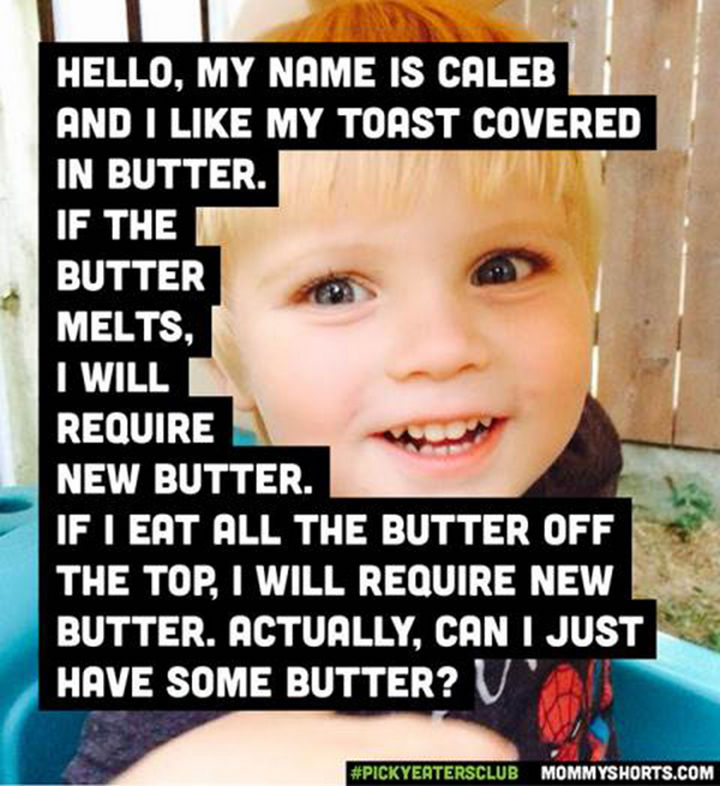 Picky Eaters Club - Hello, my name is Caleb...