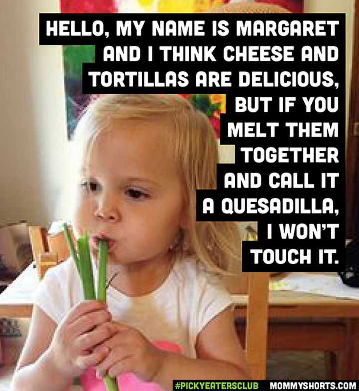 Picky Eaters Club - Hello, my name is Margaret...