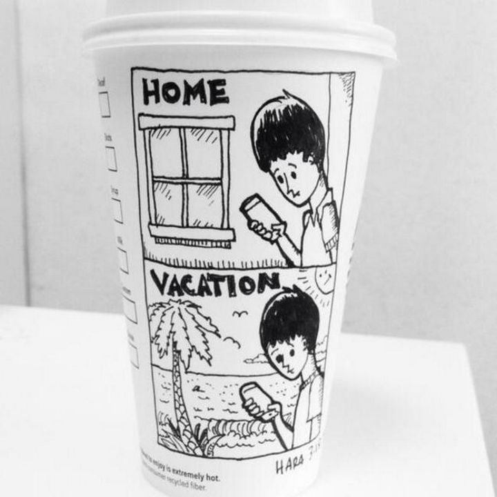 Starbucks Cup Drawings by Josh Hara - Home. Vacation.