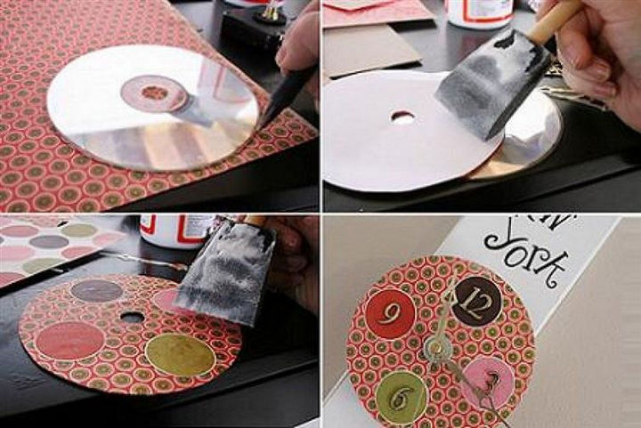 16 DIY Projects Using Old and Scratched CDs - Create a unique CD clock.
