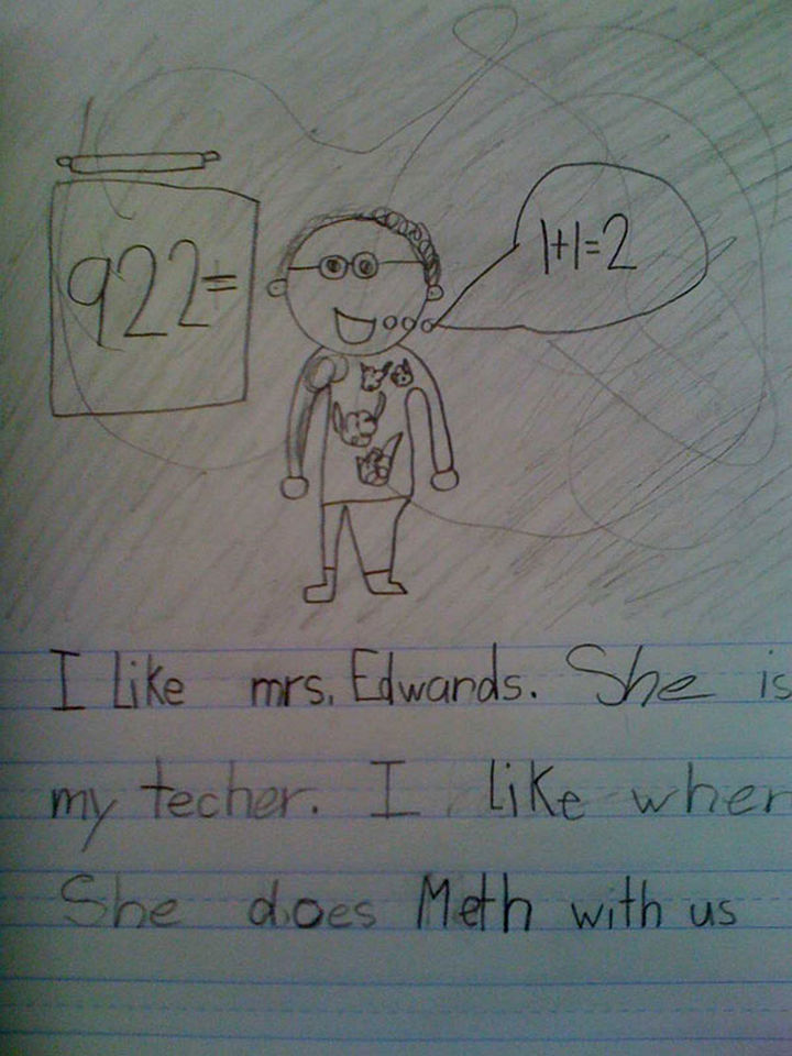 """18 Funny Spelling Mistakes - """"She likes to do MATH?"""""""