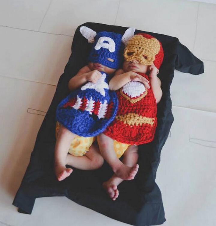 21 Crocheted Winter Hats - Ironman-Inspired Costume.
