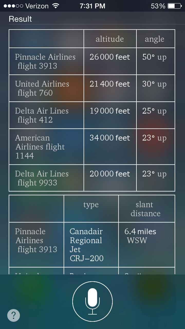 19 iPhone Tips and Tricks - Get a list of airplanes that are flying above your location.