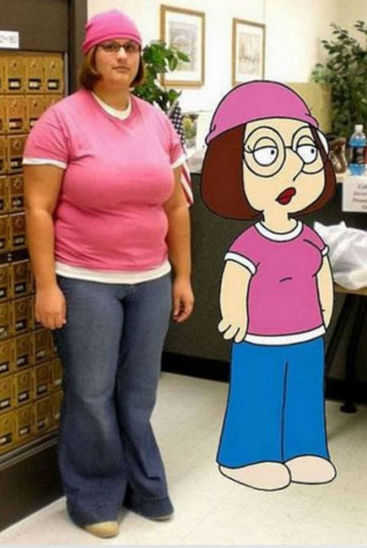25 People That Look Like Cartoon Characters In Real Life - Meg Griffin of Family Guy.