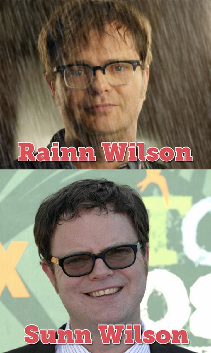 55 Hilariously Funny Celebrity Name Puns - Rainn WIlson.