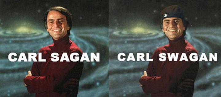 55 Hilariously Funny Celebrity Name Puns - Carl Sagan.