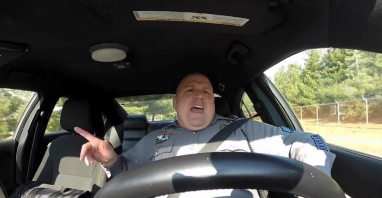 Officer Was Caught Lip-Synching Taylor Swift's 'Shake It Off'.