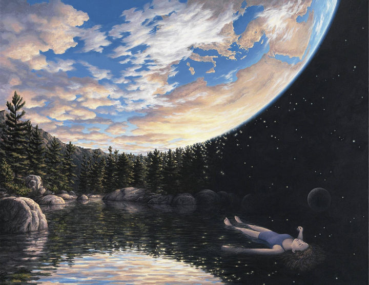 Rob Gonsalves Paintings - The Phenomenon of Floating.