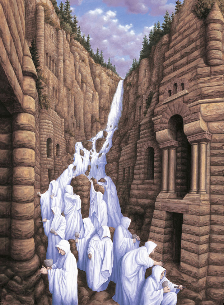 Rob Gonsalves Paintings - Carved In Stone.