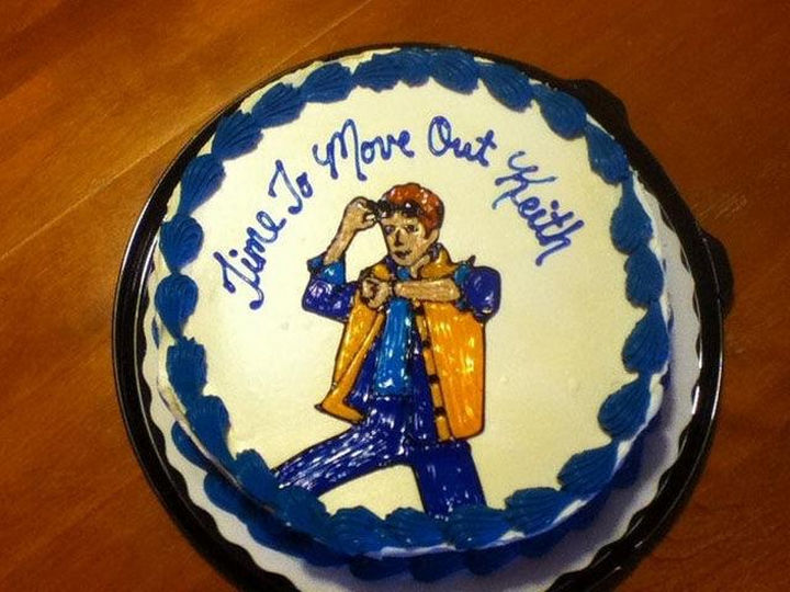 """33 Trolling Parents - """"Time to Move Out Keith"""" written on cake."""