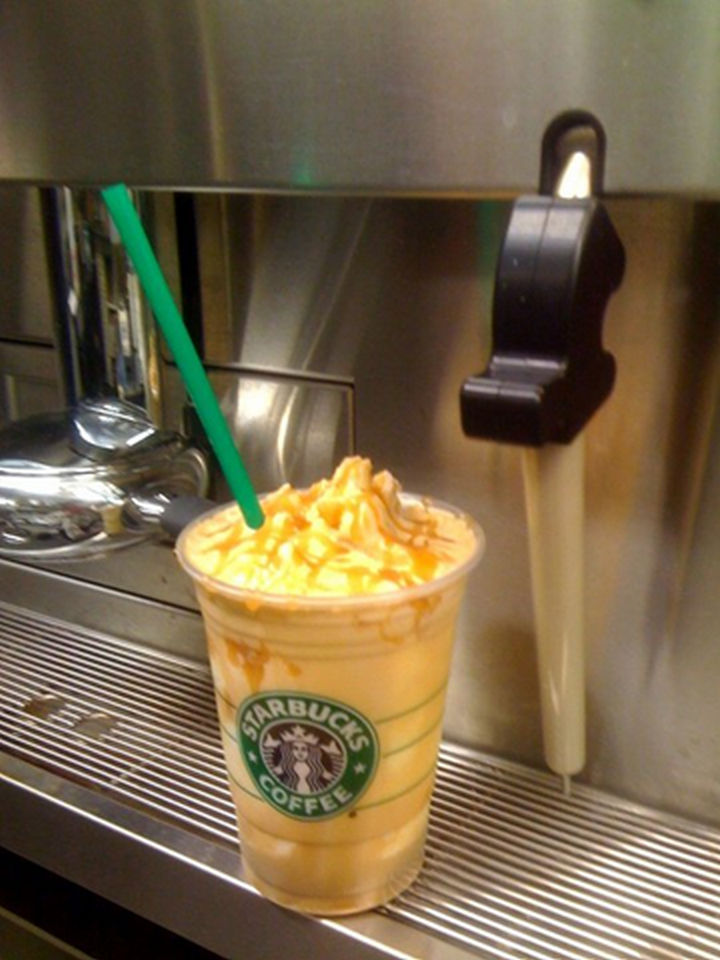 39 Starbucks Secret Menu Drinks - Caramel Macchiato Frappuccino.