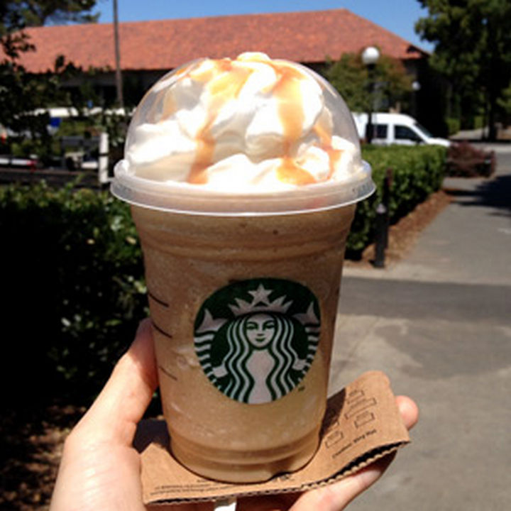 39 Starbucks Secret Menu Drinks - Cinnamon Roll Frappuccino recipe.
