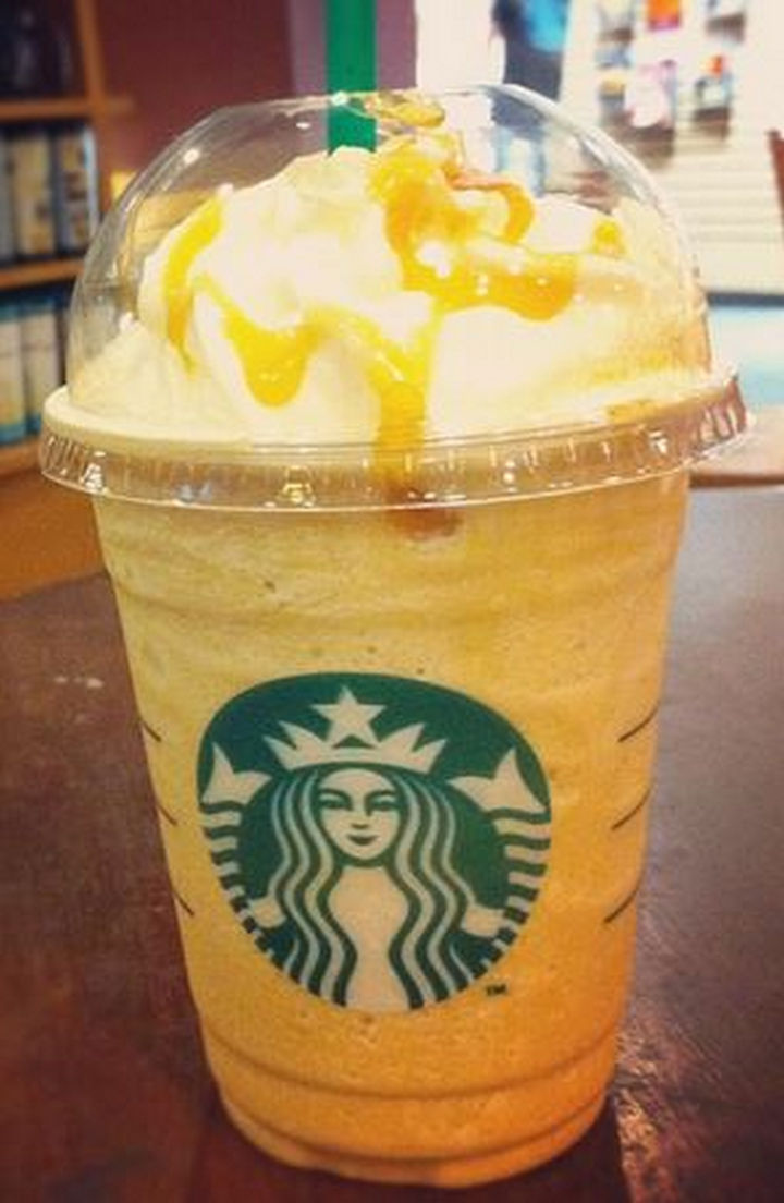39 Starbucks Secret Menu Drinks - Orange Creamsicle Frappuccino recipe.