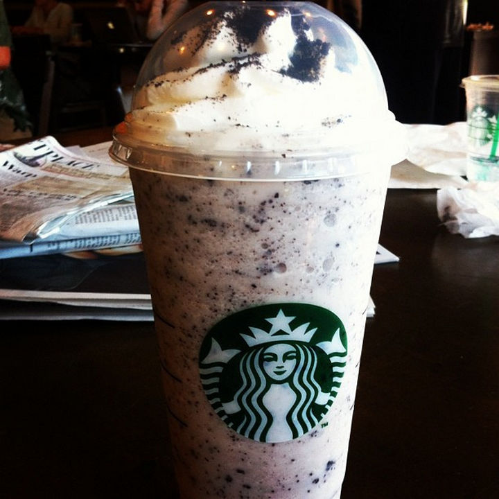 39 Starbucks Secret Menu Drinks - Oreo Frappuccino recipe.