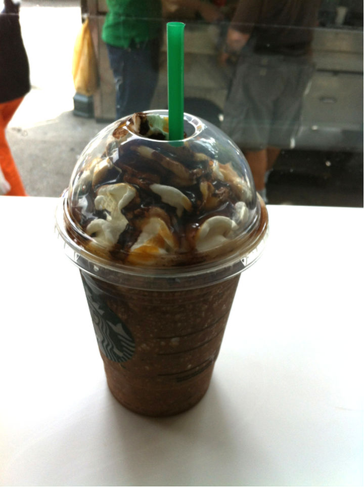 39 Starbucks Secret Menu Drinks - Snickers Frappuccino recipe.