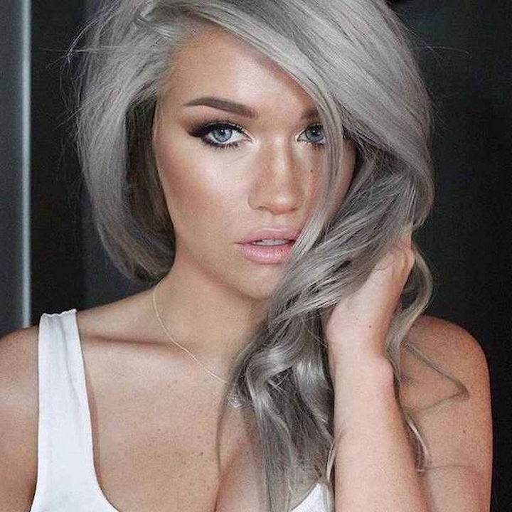 Young Women Are Dyeing Their Hair Gray Causing 'Granny Hair' to Be the Latest Hair Trend.