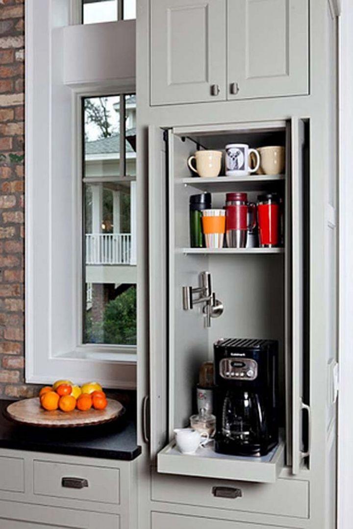 Build a sliding cabinet for appliances - 37 Home Improvement Ideas