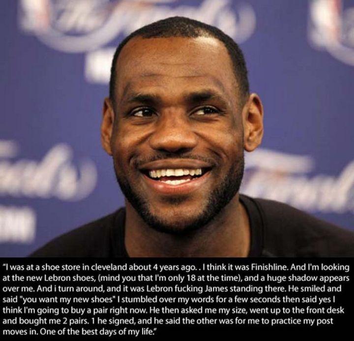 17 Celebrities Doing Random Acts of Kindness - LeBron James.