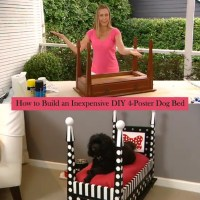 How to Make a DIY Dog Bed From an Old Side Table