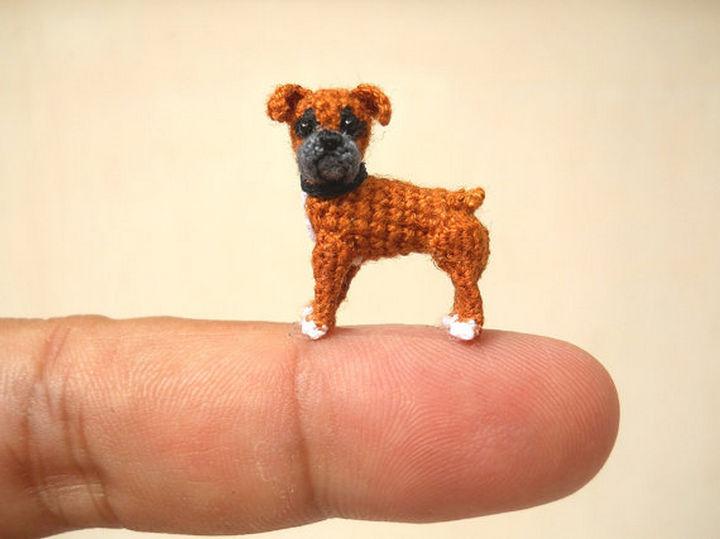 Mini crochet boxer.