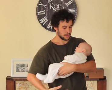 17 Ways of Holding a Baby Demonstrated by a Proud Father.