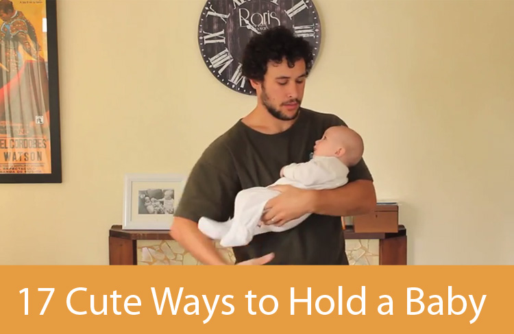 Proud Father Demonstrates How To Hold a Baby 17 Different Ways.