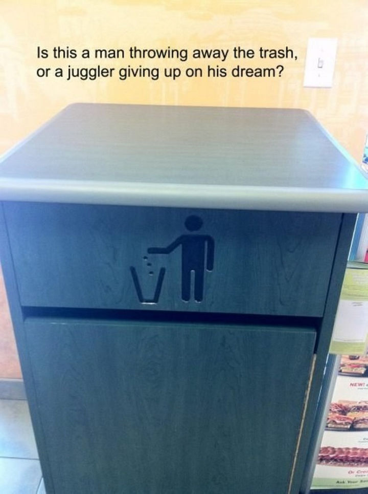 25 Things That Can't Be Unseen - Now I'll be sad every time I see a trash can...