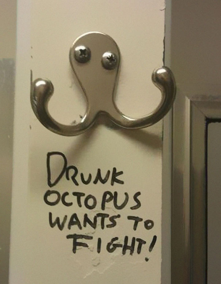 25 Things That Can't Be Unseen - Some clothes hooks look like a drunk octopus.