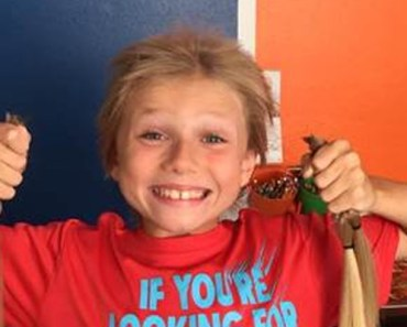 Christian McPhilamy Donates His Hair to Children With Cancer.