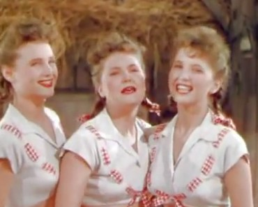 Ross Sisters Singing 'Solid Potato Salad' in Broadway Rhythm.