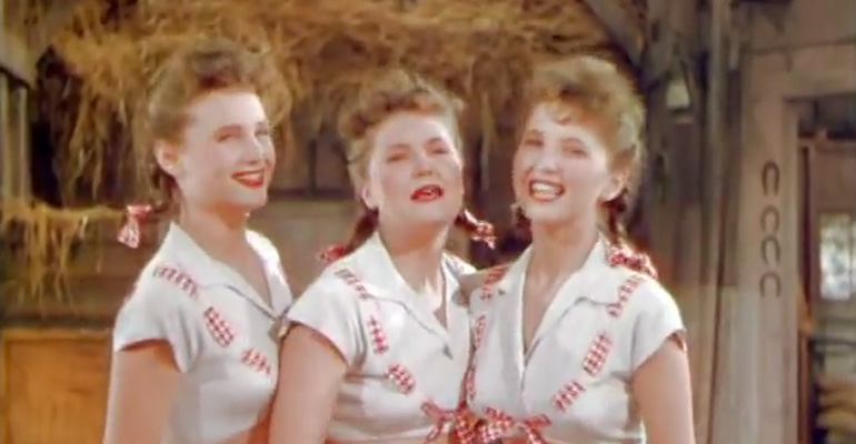 The Ross Sisters Singing 'Solid Potato Salad' in Broadway Rhythm.
