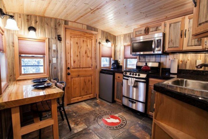 Inside, it is extensively remodeled as a cabin that comfortably can accommodate six people.
