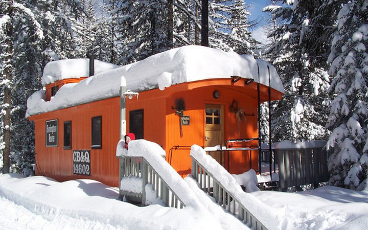 The orange car is the most romantic and accommodations include a king-size bed and loving touches throughout.