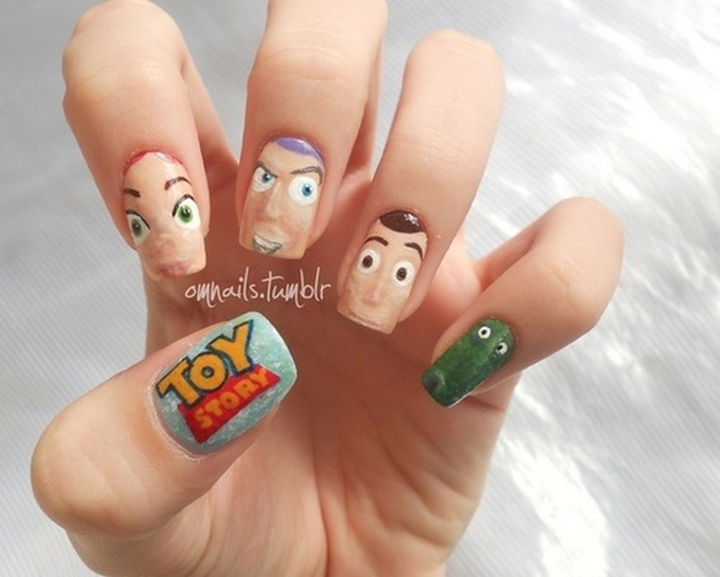 18 Disney Nails - Characters from Toy Story.