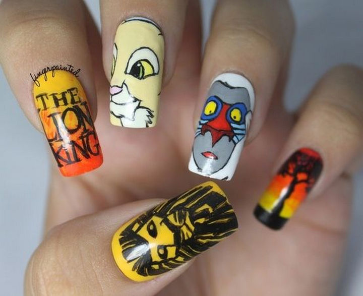 18 Disney Nails - The Lion King.