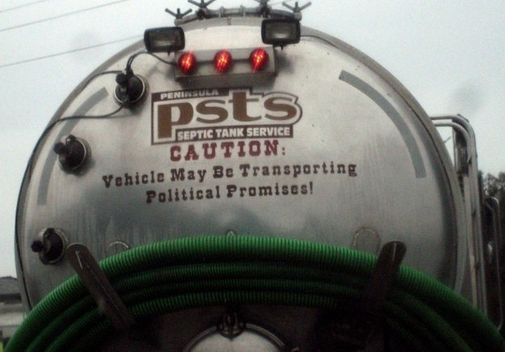 31 Funny Truck Signs - Yeah, that sounds about right.