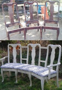 8 DIY Projects for Turning Old Chairs Into Gorgeous Benches