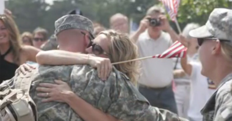 Five Amazing Soldiers Sing 'Coming Home' United Together.