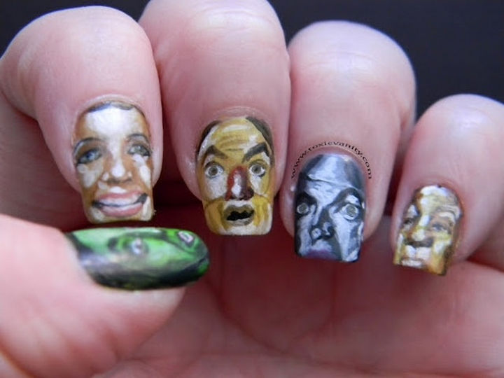 13 Book-Inspired Nail Art Designs - The Wonderful Wizard of Oz by L. Frank Baum