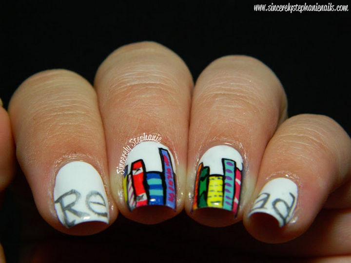 13 Book-Inspired Nail Art Designs - Inspire other people to read books.