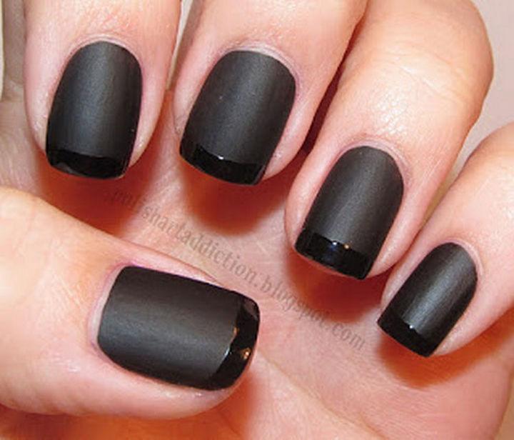 17 Minimalist Nails - Black style.