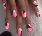 nail tape striped diy design