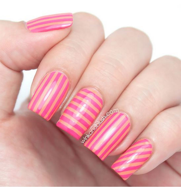 18 Striped DIY Nail Designs - Stripes in every direction!