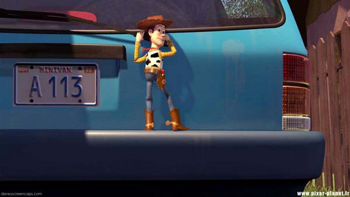 Disney and Pixar 'A113 Easter Egg - The license plate on Andy's family car in Toy Story.