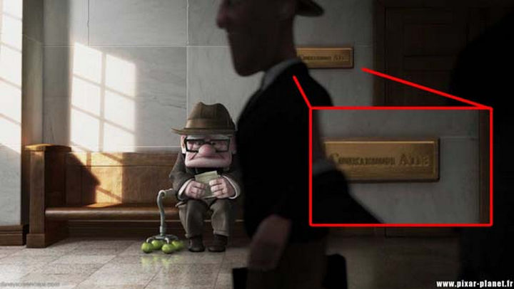 Disney and Pixar 'A113 Easter Egg - The courtroom number in Up.