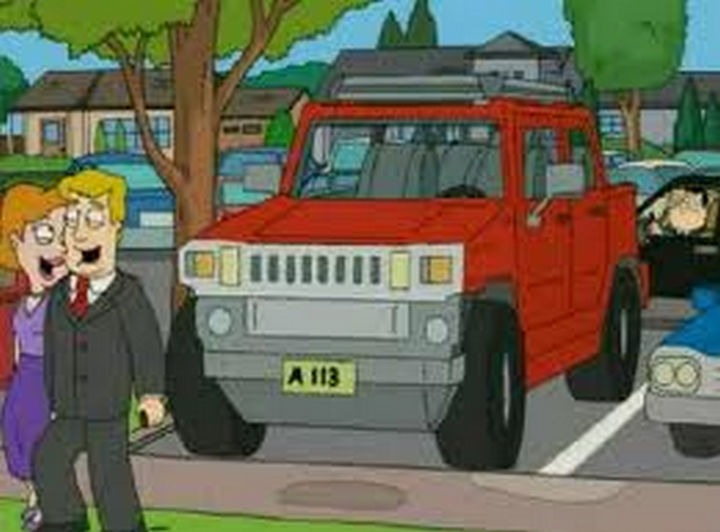 Disney and Pixar 'A113 Easter Egg - License plate number in American Dad.